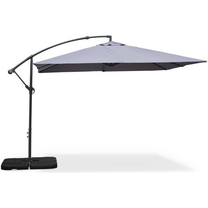 parasol d port carr 3x3m hardelot gris achat vente parasol parasol carr 3x3m les soldes. Black Bedroom Furniture Sets. Home Design Ideas