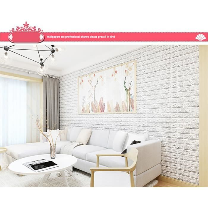 Dalles murales Autocollantes 30 x 60 cm Papier Peint Autocollant 3D pour Salon Chambre ou Cuisine