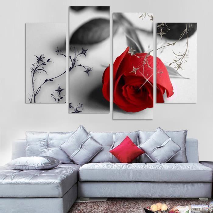 Rouge Tonique Cascade en forêt TOILE murale ART Photo Print-Toutes Tailles