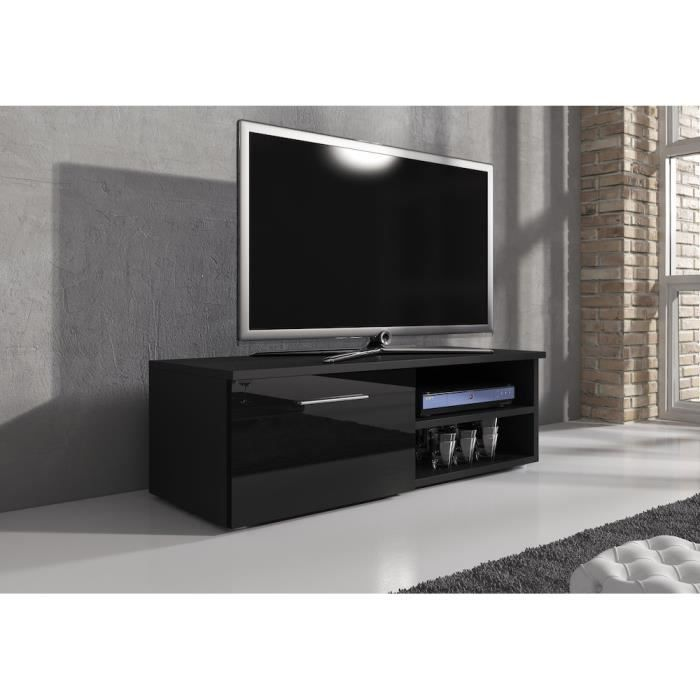 reno meuble tv contemporain d cor noir 120 cm achat vente meuble tv reno meuble tv. Black Bedroom Furniture Sets. Home Design Ideas