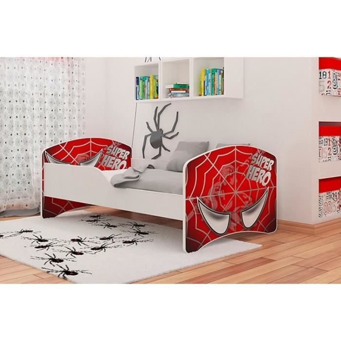 lit enfant sommier matelas 160x80 cm rouge achat vente lit complet lit enfant sommier. Black Bedroom Furniture Sets. Home Design Ideas
