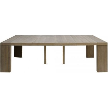 Table console extensible rose 4 rallonges achat vente - Table console extensible pied central ...