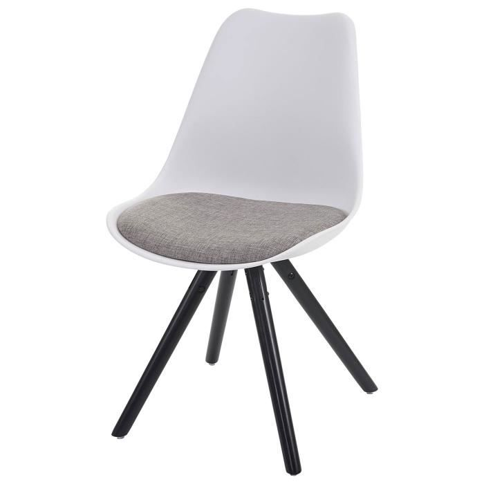 chaise scandinave grise et blanche