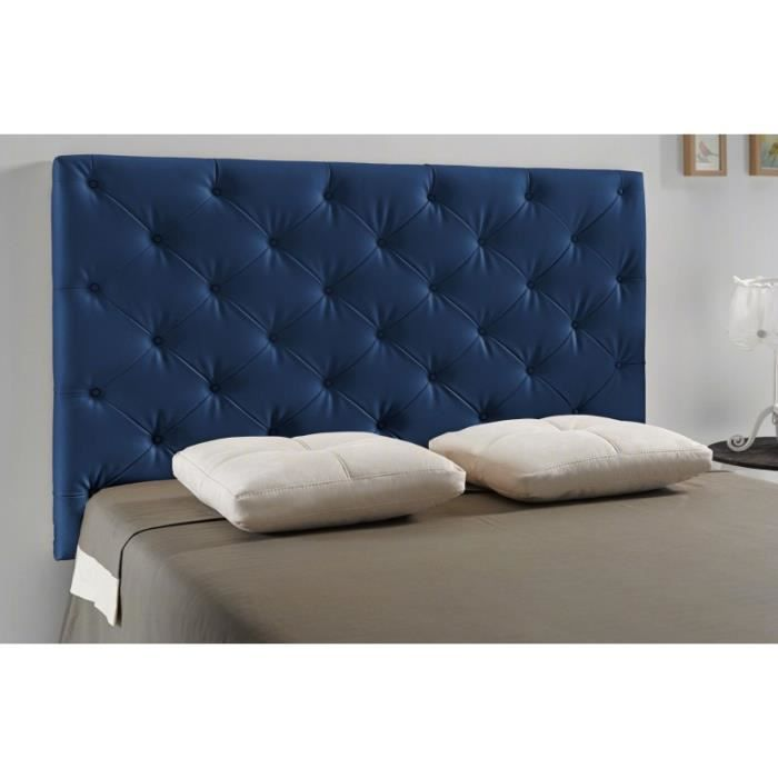 t te de lit capitonn diamond couleur bleu mesure lit de 105 cm de large achat vente. Black Bedroom Furniture Sets. Home Design Ideas