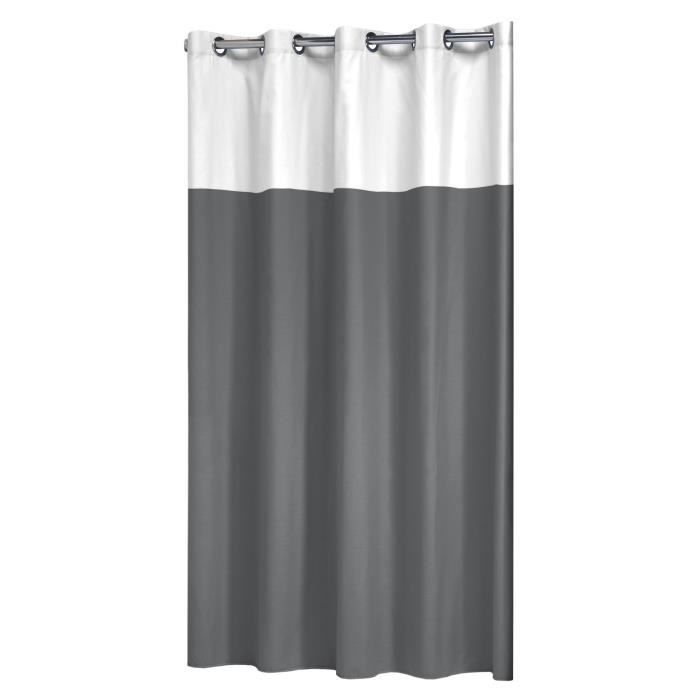 Sealskin 233521314 double rideau de douche 180x200cm for Rideau de douche en coton