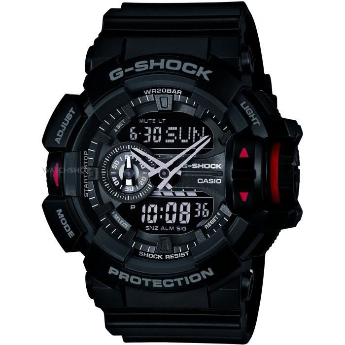 casio montre quartz g shock ga 400 1ber homme prix pas cher cdiscount. Black Bedroom Furniture Sets. Home Design Ideas