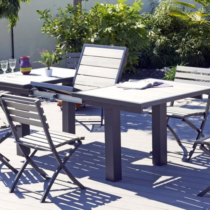 table de jardin avec rallonge papillon table de lit a roulettes. Black Bedroom Furniture Sets. Home Design Ideas