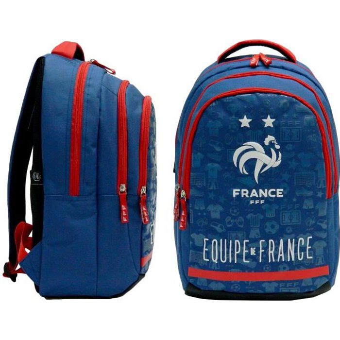 FFF Sac /à Dos Scolaire Collection Officielle Equipe de France de Football