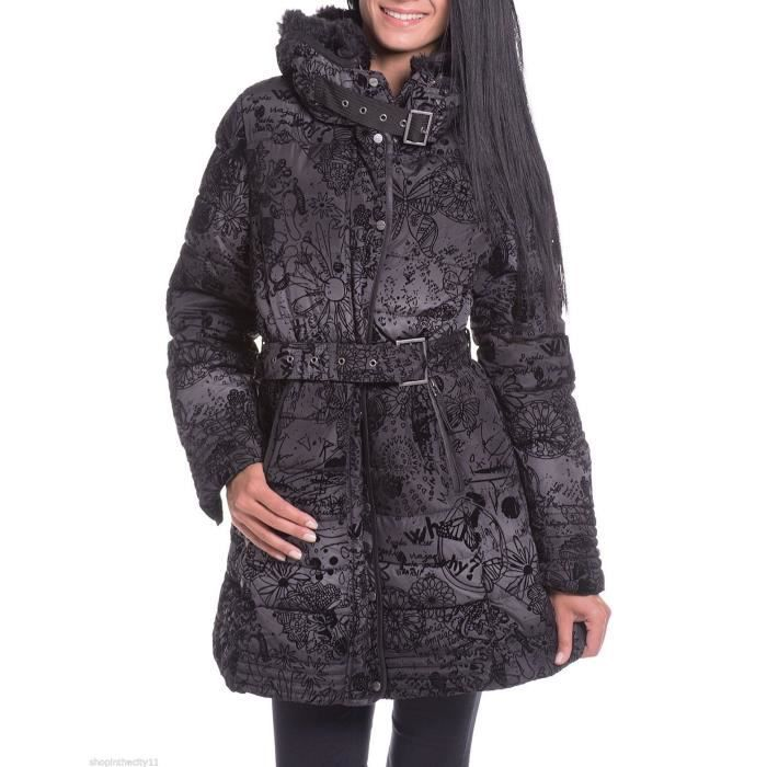 manteau desigual alethea noir achat vente doudoune. Black Bedroom Furniture Sets. Home Design Ideas