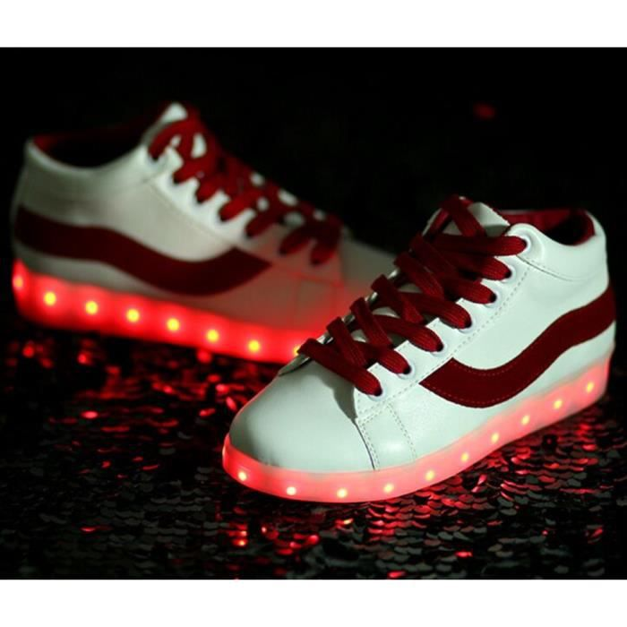 Taille 35-46 Éclairage LED Performance Chaussures USB Charge Grande Taille 7 Couleurs Homme et Femme Chaussures Lumineuse lS2bDEp