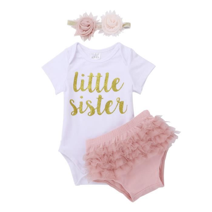 Ensemble de vêtements Bébé Fille Ensemble de Vêtements Barboteuse Bloome