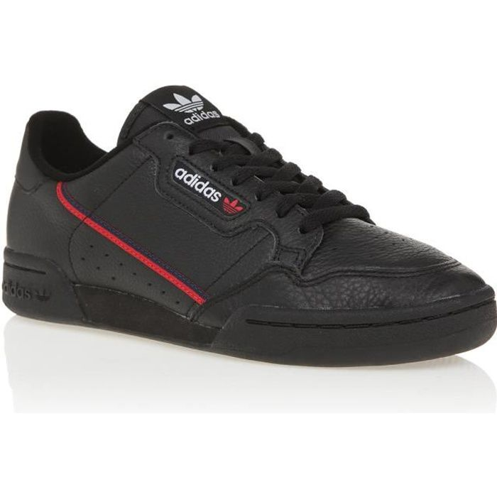 ADIDAS ORIGINALS Baskets CONTINENTAL 80 - Homme - NOIR/ ROUGE