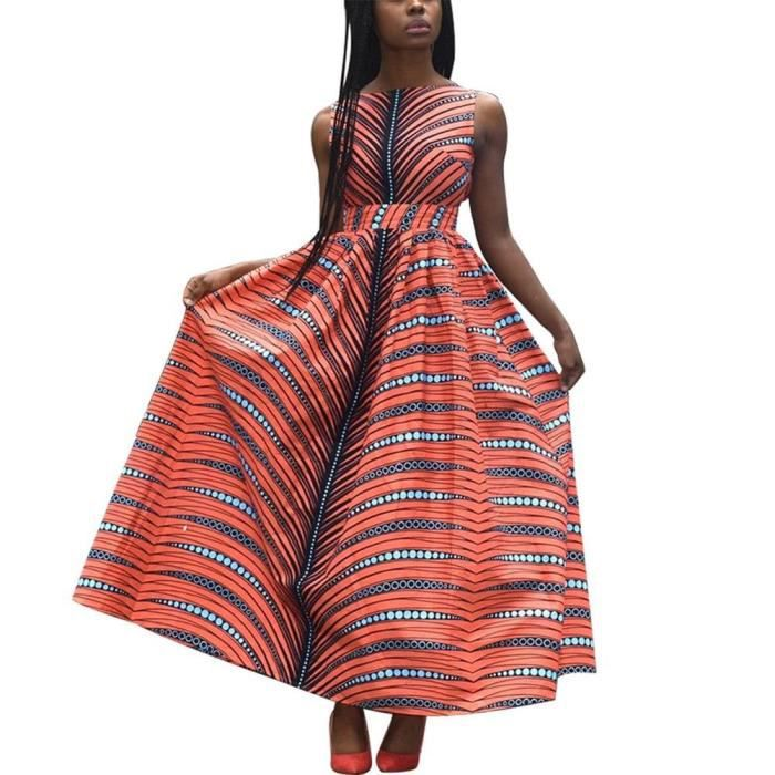 Fadzeco Robes Africaines Pour Femmes 2019 Nouvelles Robe De Mode Robe Longue Sans Manches Ankara Imprimer Robes De Type Mc02 Blanc Achat Vente Robe Cdiscount