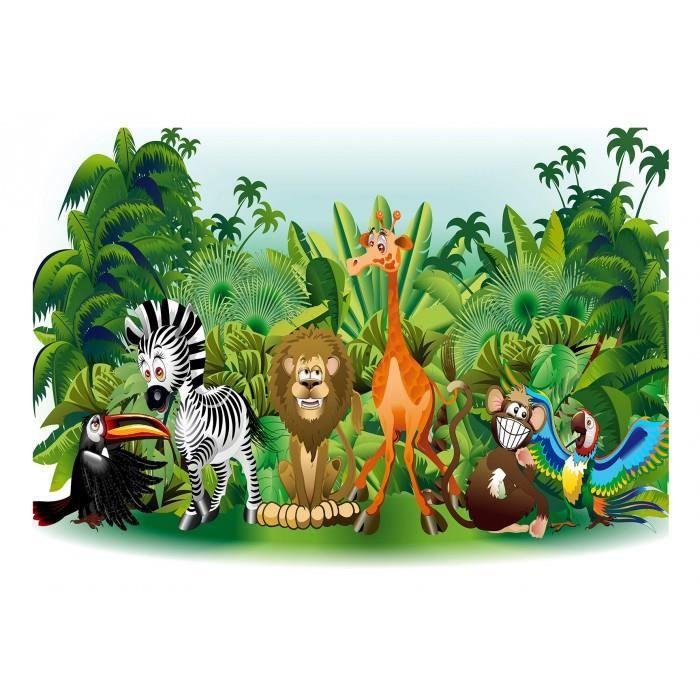 Sarcelle Jungle Animaux Ménagerie papier peint 2004
