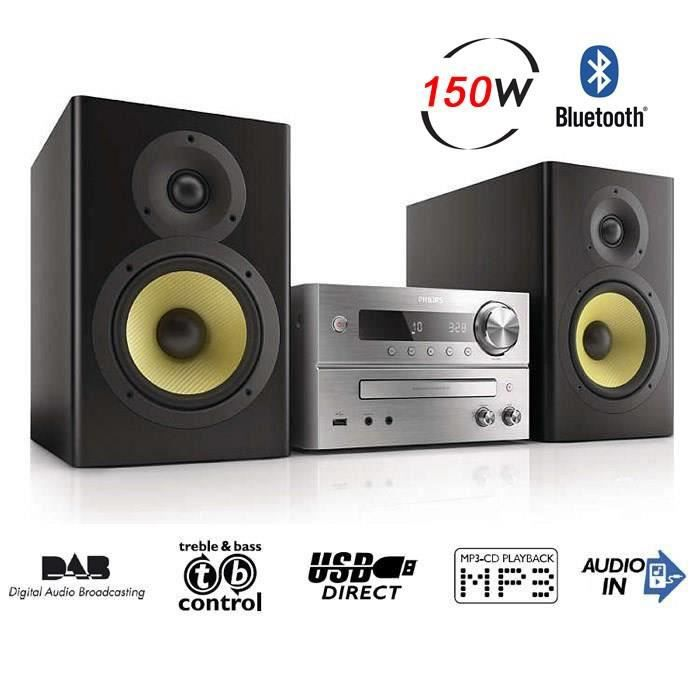 philips btb7150 micro cha ne hifi bluetooth nfc usb chaine hi fi prix pas cher cdiscount. Black Bedroom Furniture Sets. Home Design Ideas