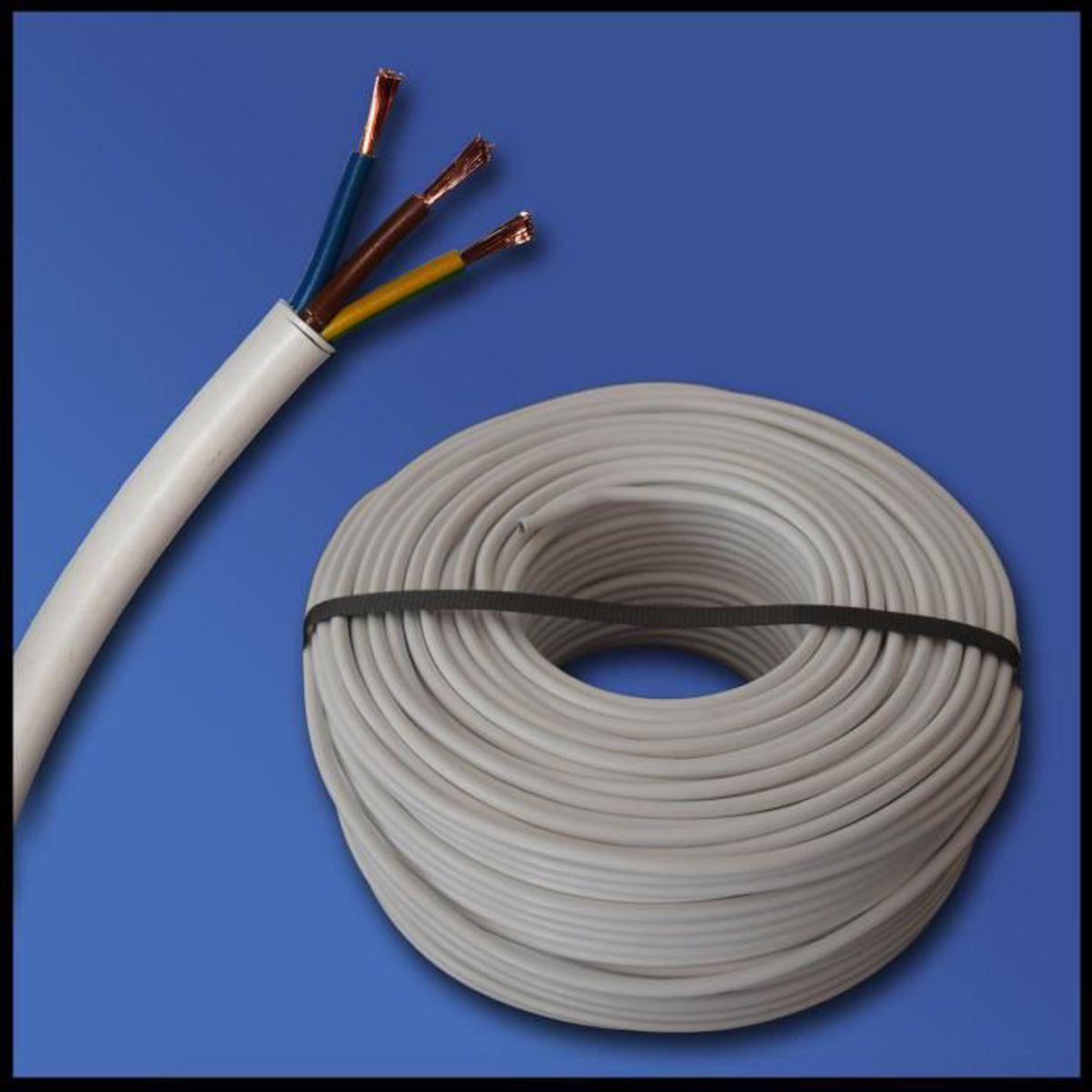 /25/m /Noir/ Tuyau flexible H03VV-F C/âble 3/G 0,75/mm/²/ /3/x 0,75/mm/²/