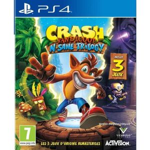 JEU PS4 Crash Bandicoot N Sane Trilogy PS4+ 1 Hand Spinner