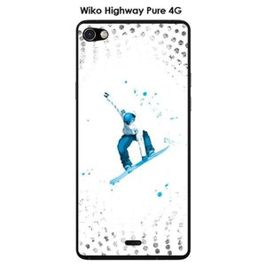 COQUE - BUMPER Coque Wiko Highway Pure design Lost in the sky Whi