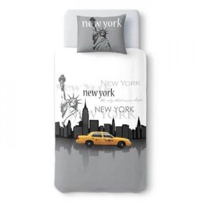 Housse de couette 1 personne new york achat vente housse de couette 1 personne new york pas - Housse de couette 140x200 new york ...