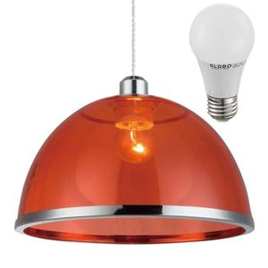 LUSTRE ET SUSPENSION Suspension rouge LED luminaire plafond lampe DEL 7