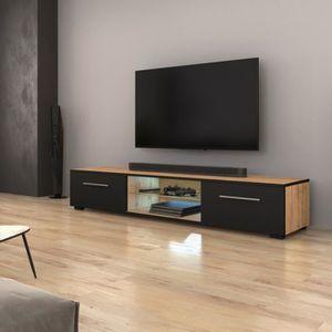 MEUBLE TV Meuble TV / Meuble salon - EDITH - 140 cm - chêne