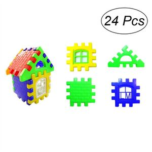 ASSEMBLAGE CONSTRUCTION 24 Pcs En Plastique Maison Construction Building B
