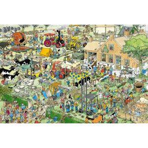 PUZZLE Puzzle 1500 pièces - Jan Van Haasteren : La ferme