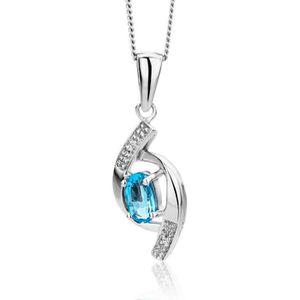 Miore bijoux femmes pendentif coeur avec diamant solitaire 0.01 ct en or bicolor//or jaune//or blanc 18 Carat 750 or