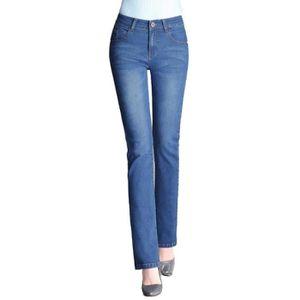 Jeans femme taille haute coupe droite - Achat / Vente pas cher