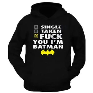 COMBINAISON DE SUDATION Batman Sweat À Capuche - Noir