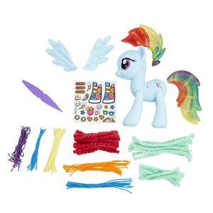 TÊTE À COIFFER Design-a-cheval arc-en-Dash Figure Kit, 5 pouces 3