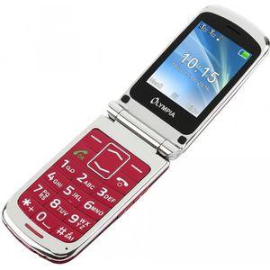 Téléphone portable Style Plus olympique aînés rouges confort téléphon