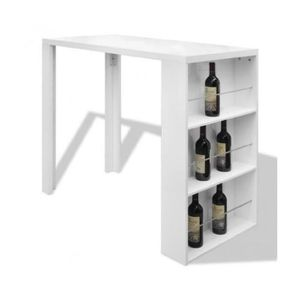 table bar avec rangement achat vente table bar avec rangement pas cher cdiscount. Black Bedroom Furniture Sets. Home Design Ideas