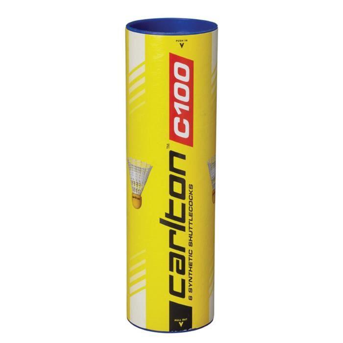 DUNLOP Tube de 6 volants de badminton C 100 blanc
