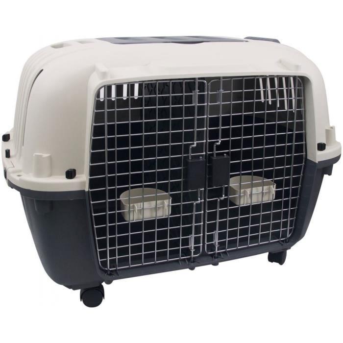 Cage de transport, Nomad, 2 portes, taille: L 56 X 87 X 65 cm. pour chien.-Flamingo Pet Products 90,000000