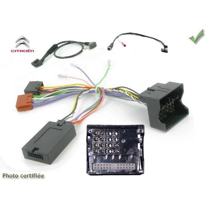 Interface Cde au Volant Citroen Picasso/ Berlingo/ Jumpy/ Fiat/ Toyota Fakra sans radars recul Kenwood - ADNAuto - ADN-CAV