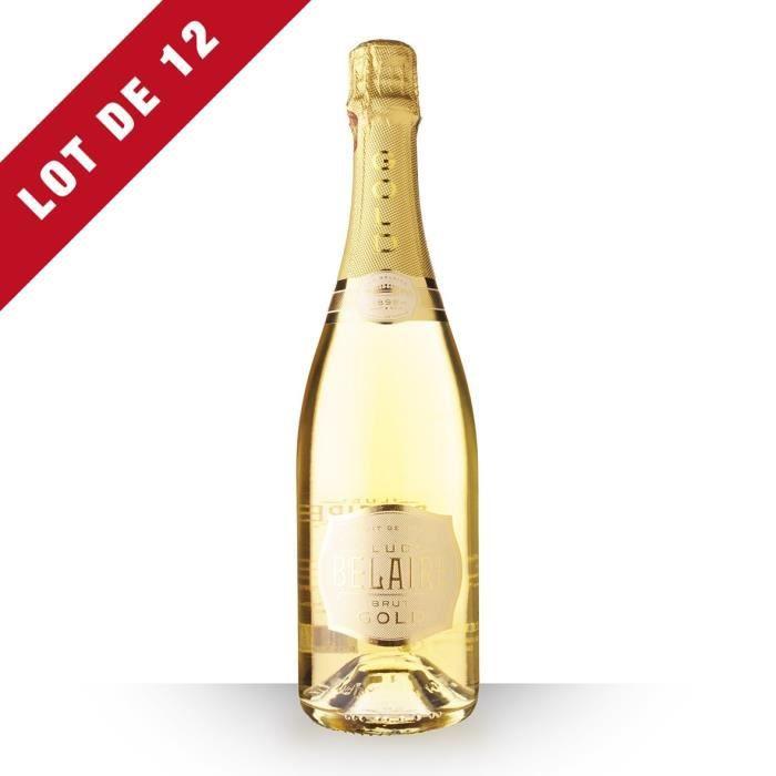 Lot de 12 - Luc Belaire Brut Gold - 12x75cl - Vin Rosé