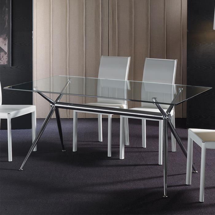 Table à manger en verre MARINA 180 cm