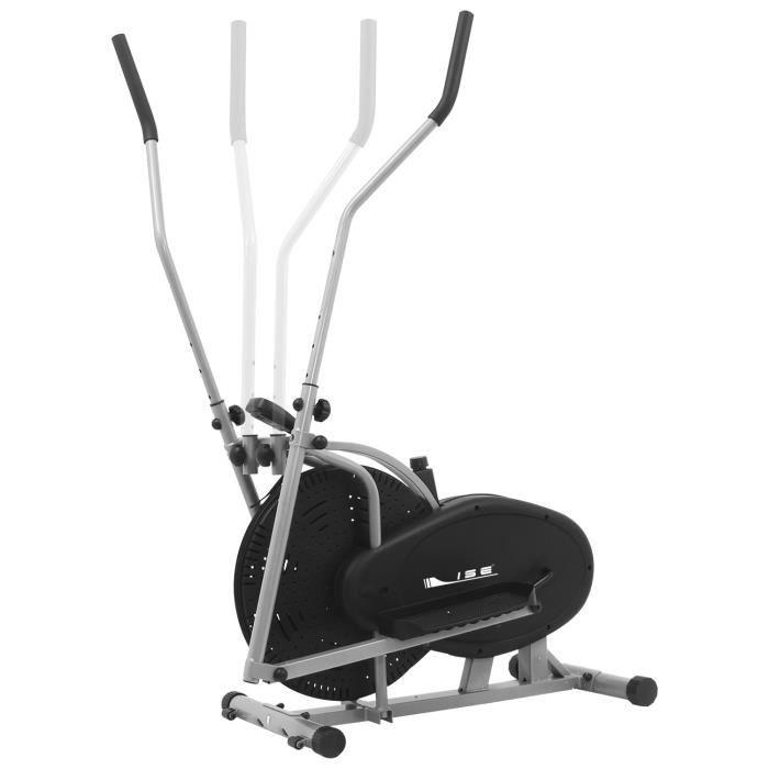 ISE 2 en 1 Vélo Elliptique Mixte Adulte,Vélo d'appartement Trainer,Cross Trainer avec calories et distanceEcrans LCD,SY9000