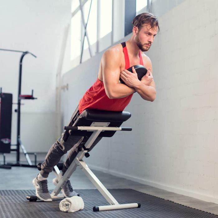 Appareil de Musculation du Dos abdominaux Fitness Banc Pliable Hyper Extension[74]