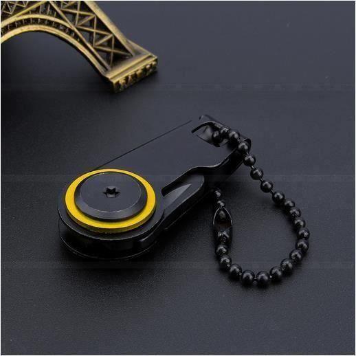 Mini Multifonctions EDC Couteau De Poche Outil de Survie Self Defense Noir