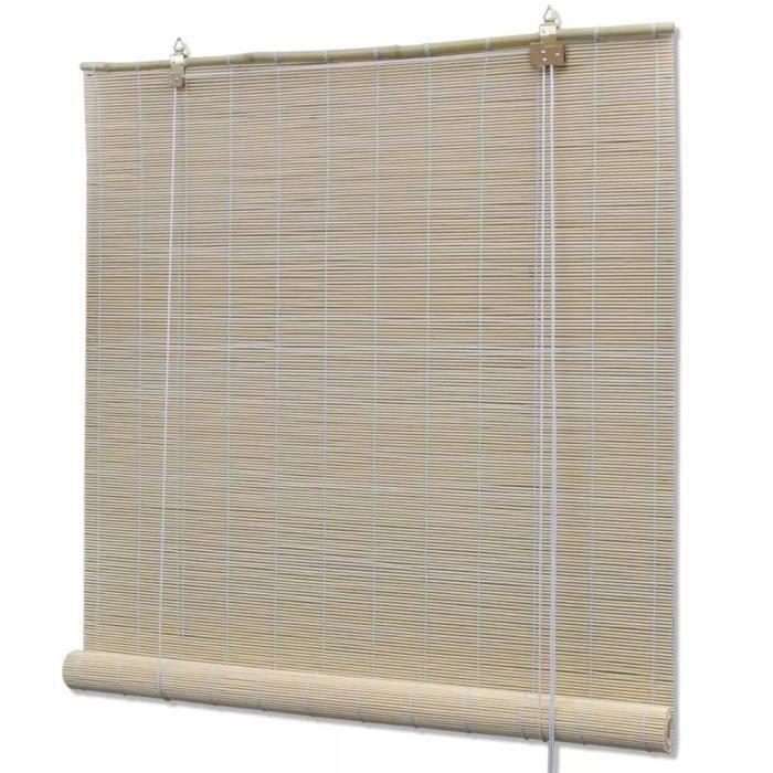 Store Enrouleur Roulant en Bambou naturel 100 x 160 cm
