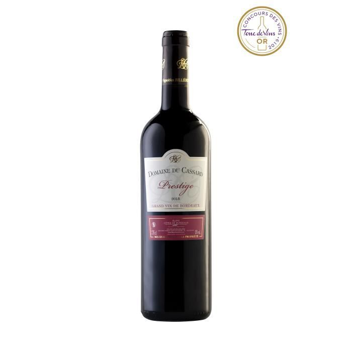 Domaine du Cassard - Blaye Côtes de Bordeaux Rouge Prestige - Médaille d'or concours Terre de vin