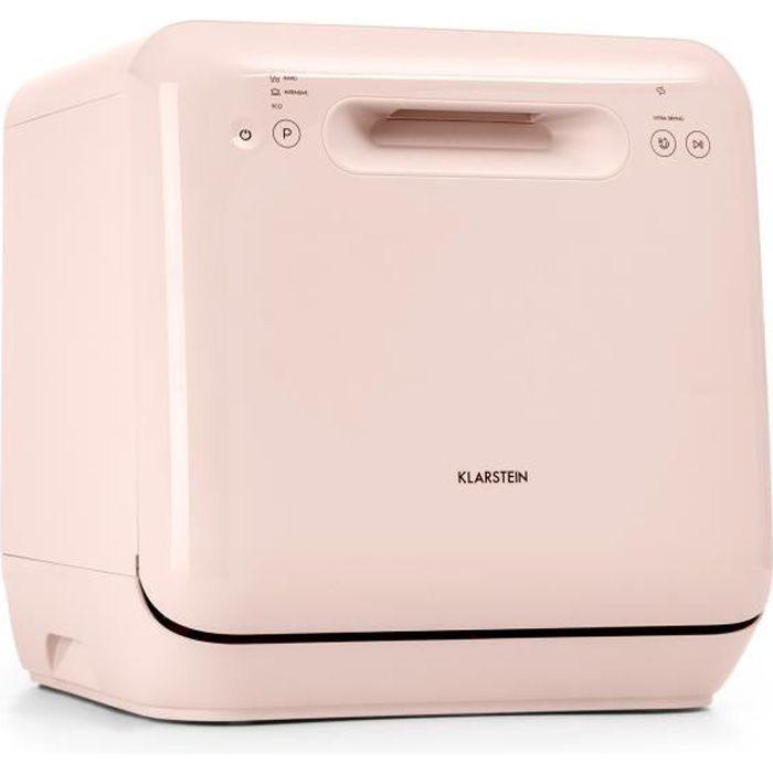 Klarstein - Lave-vaisselle Aquatica - sur pied sans installation - 2 couverts - 860 W - Rose