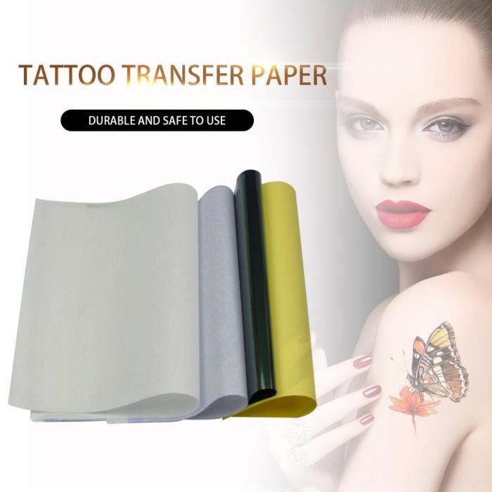 50 papier de transfert de tatouage Thermique Pochoir Papier