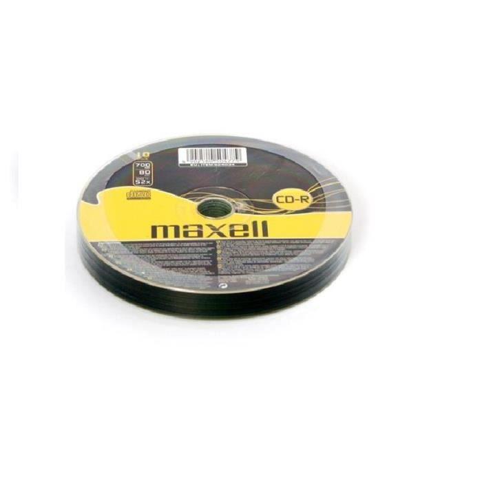 Maxell Cd R 700Mb 10 pk, Cd R, 700 Mo, 10 pièce(s), 120 mm, Polycarbonate, 52x