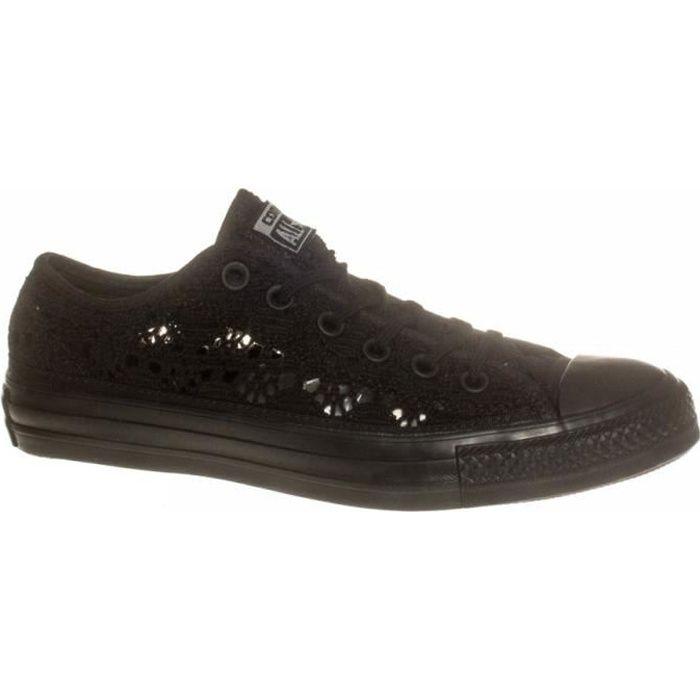 CONVERSE Baskets Basse All Star OX Crochet 549312C Noir Femme