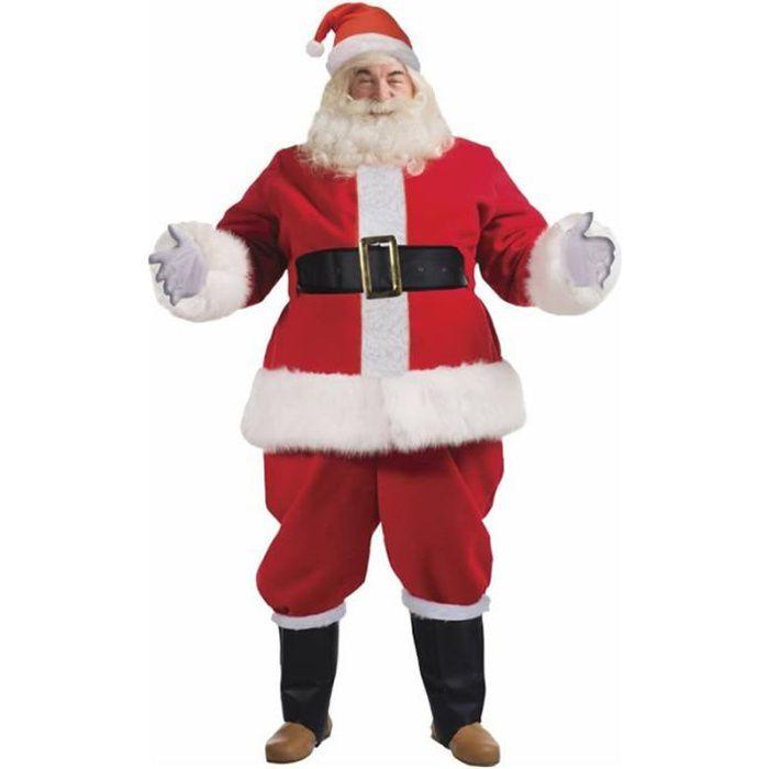 Déguisement de Père Noël Luxe Homme - 9 Pièces - Taille Unique convient jusqu'au 54