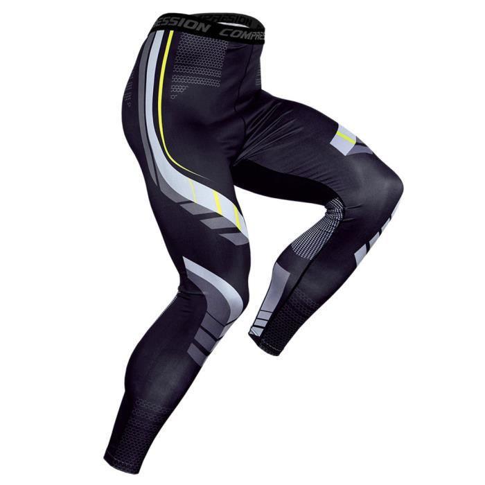 Pantalon de Compression Hommes Baselayer Séchage Rapide Collant de Sport Leggings Running,KC174