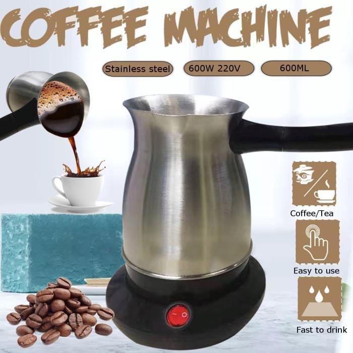 AvanC 600W 220V Machine à Café 304 Acier Inoxydable Turquie Cafetière Électrique Cafetière Bouilloire pour Bureau à Domicile